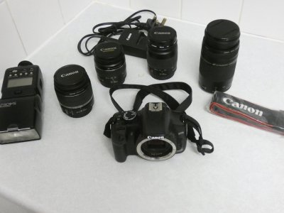 Please help with price on canon EOS 450D and associated