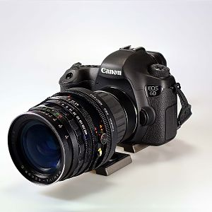 Mamiya RB67 50mm f4.5 lens to Canon 6D body