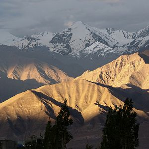 First light over Himalayas in Leh, Ladakh, India